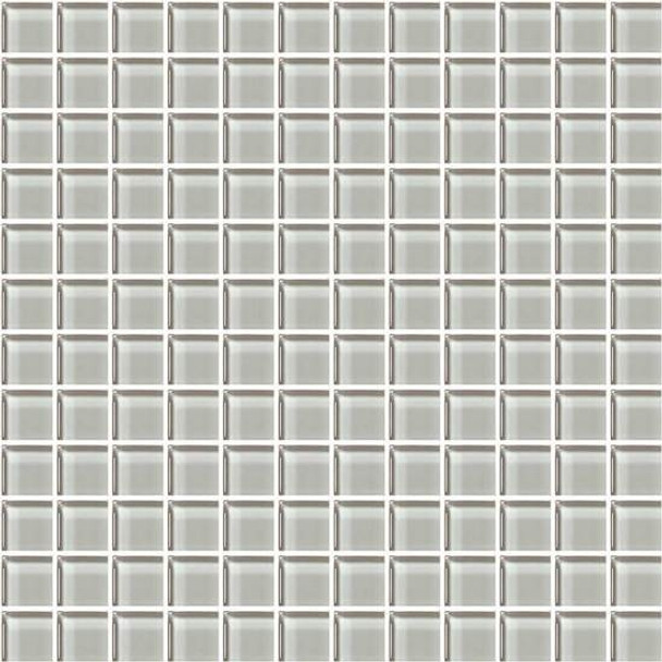 American Olean Color Appeal Glass - C102 Silver Cloud - 1X1 Glass Tile Mosaic - Glossy - Sample