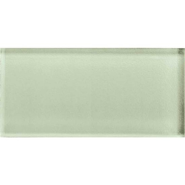 American Olean Color Appeal Glass - C112 Celedon - 3X6 Brick Subway Glass Tile - Glossy - Sample