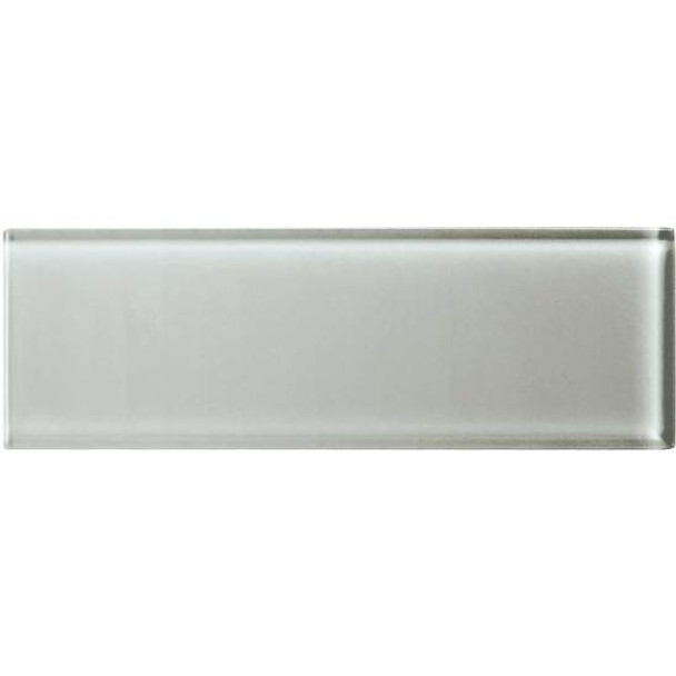 American Olean Color Appeal Glass - C102 Silver Cloud - 4X12 Subway Glass Tile Plank - Glossy - Sample