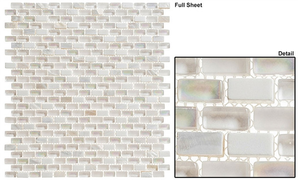 Americana - AMER-397 Greyhound - 3/4 X 3/8 Mini Brick Subway Glass & Stone Mosaic Tile