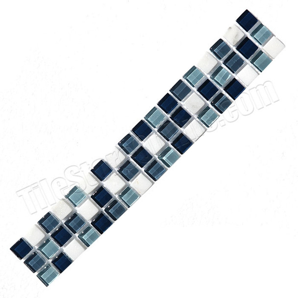 Supplier: Daltile, Series: Glass Liner, Name: TR40 Glass and Stone Strip, Color: Torino Forge Blend, Type: Glass Tile Deco Liner, Category: Glass Tile, Size: 2X12