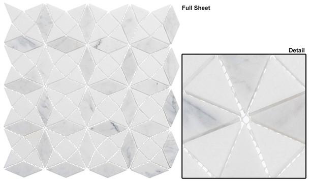 Divine Windows - DVW-342 Gaelic Kirk - Geometric Pattern Natural Stone Mosaic Tile