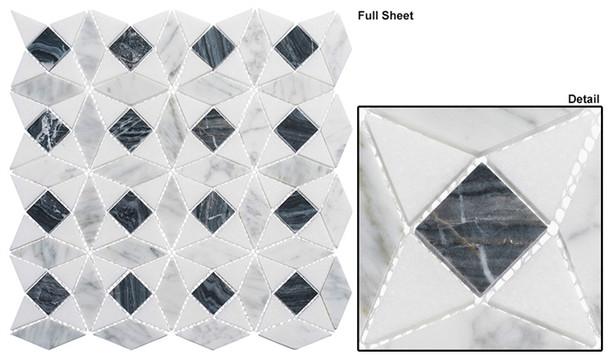 Divine Windows - DVW-344 Russian Renaissance - Geometric Pattern Natural Stone Mosaic Tile