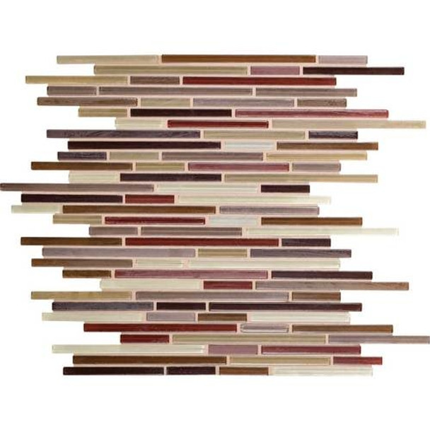 Supplier: Daltile Fanfare, Series: Caprice, Name: F172, Color: Crimson Blend, Size: Random Linear