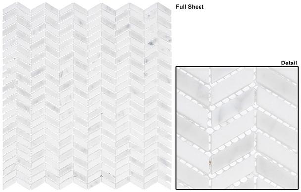 Covered Bridges - CVB-361 Mystical Arches - Mini Chevron Pattern Natural Stone Mosaic Tile - Sample