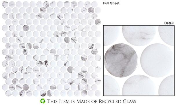 Carolina Dots - CAR2012 Fashion Spec - Penny Round Recycled Glass Mosaic