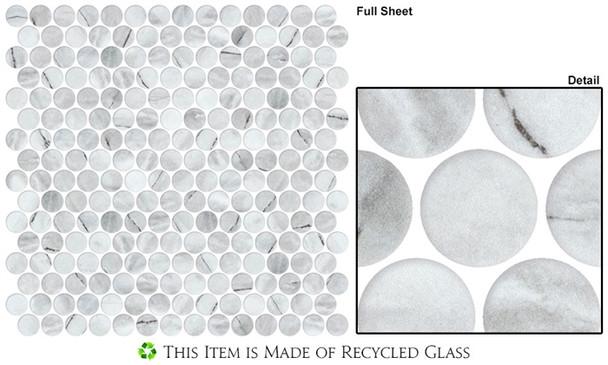 Carolina Dots - CAR2014 Venezuela Dawn - Penny Round Recycled Glass Mosaic