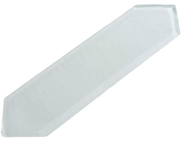 Aristocrat Harbor - ACRT 296 Eggshell White - 3 X 10.5 Picket Shape Long Hex Glass Tile
