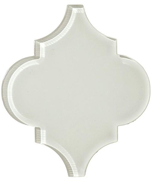 Supplier: Tile Store Online, Name: Versailles VS-421, Color: White Tulip, Type: Arabesque Glass Tile, Size: 5X6