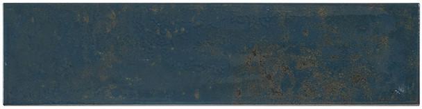 Iberian - IBR 9375 Navy Pallete - 4X16 Subway Brick Glazed Wall Tile - BULLNOSE FINISH TRIM