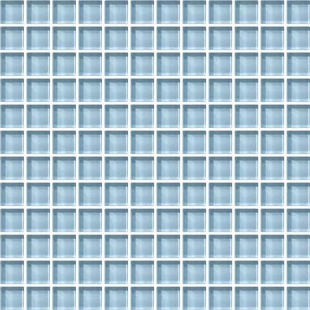 Daltile Color Wave Glass - CW13 Blue Lagoon - 1 X 1 Dal Tile Glass Tile - Glossy - Sample
