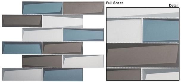 Scandinavia - SCDV-826 Northern Lights - 2 X 6 Beveled Glass Mosaic