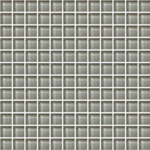 Supplier: Daltile, Series: Color Wave, Name: CW07 Casual Tan - Glossy, Color: White, Category: Glass Tile, Size: 1 X 1