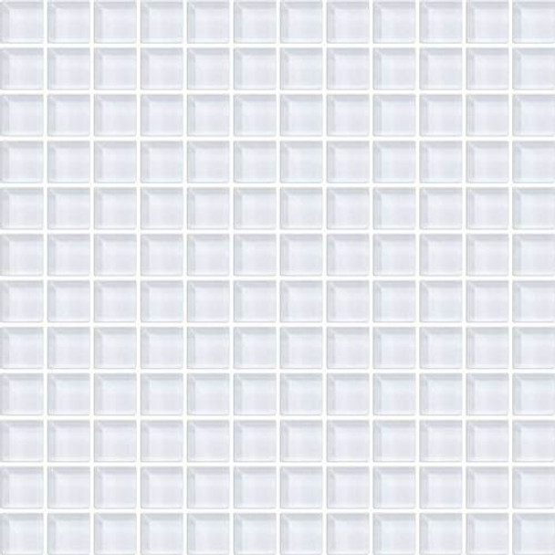 Supplier: Daltile, Series: Color Wave, Name: CW01 Ice White - Glossy, Color: White, Category: Glass Tile, Size: 1 X 1