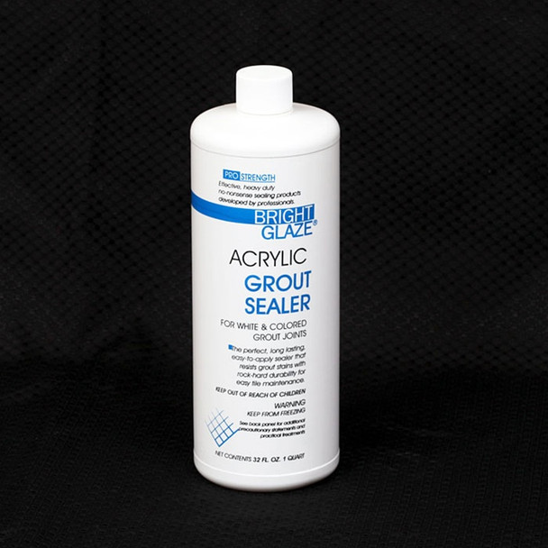 Supplier: Bright Glaze, Type: Tile Grout Sealer, Series: Tile Cleaners and Sealers, Name: Acrylic Grout Sealer, Category: Cleaners and Sealers, Size: Quart