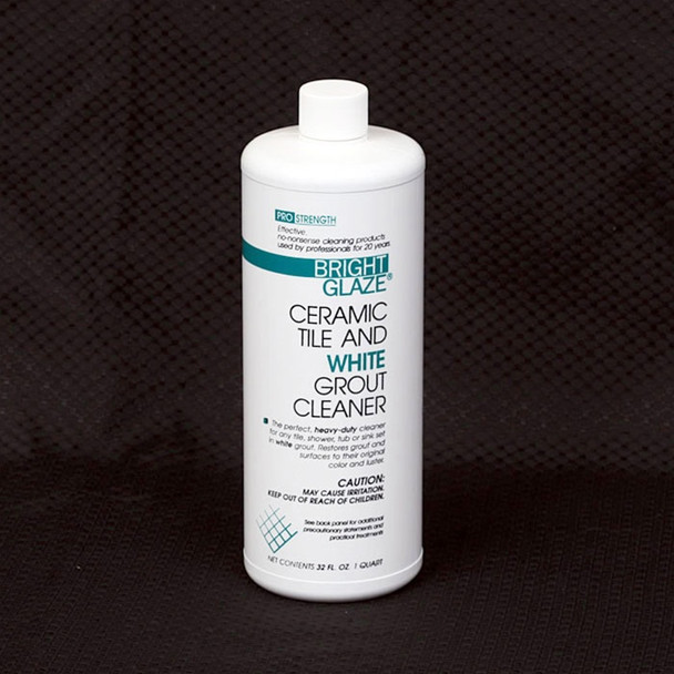 Supplier: Bright Glaze, Type: Tile and White Grout Cleaner, Series: Tile Cleaners and Sealers, Name: Tile and White Grout Cleaner, Category: Cleaners and Sealers, Size: Quart