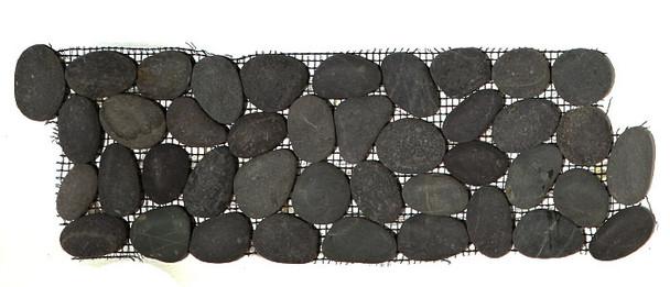 Supplier: Tile Store Online, Name: Island Rock Swarthy Black Pebble Stone Border Liner