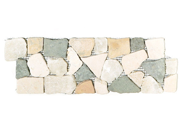 Supplier: Tile Store Online, Type: Flat Stone Liner Border, Series: Interlocking Stone Mosaic Border Liner, Name: Island Rock Collection, Color: Merak, Category: Natural Stone, Size: 1 - 2