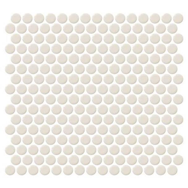 "Supplier: Daltile, Series: Fanfare - Retro Rounds, Name: RR05 Cream Soda Penny Round - Gloss, Size: 1"""