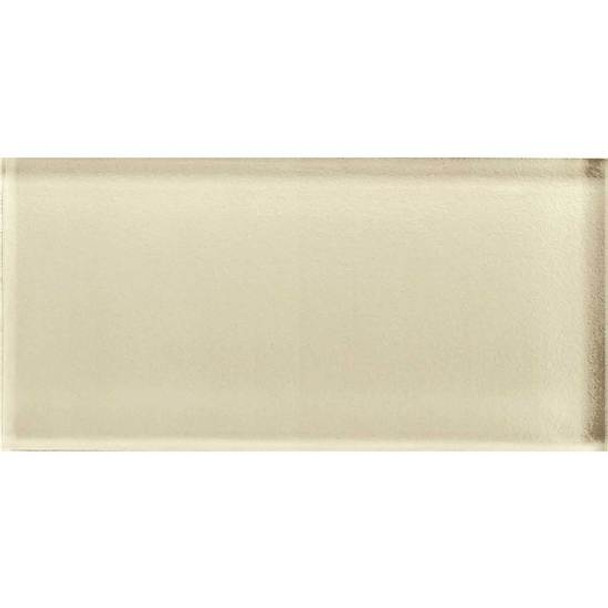 Supplier: American Olean, Series: Color Appeal Glass, Name: C104 Cloud Cream - Glossy, Type: Brick Subway Glass Tile, Size: 3X6