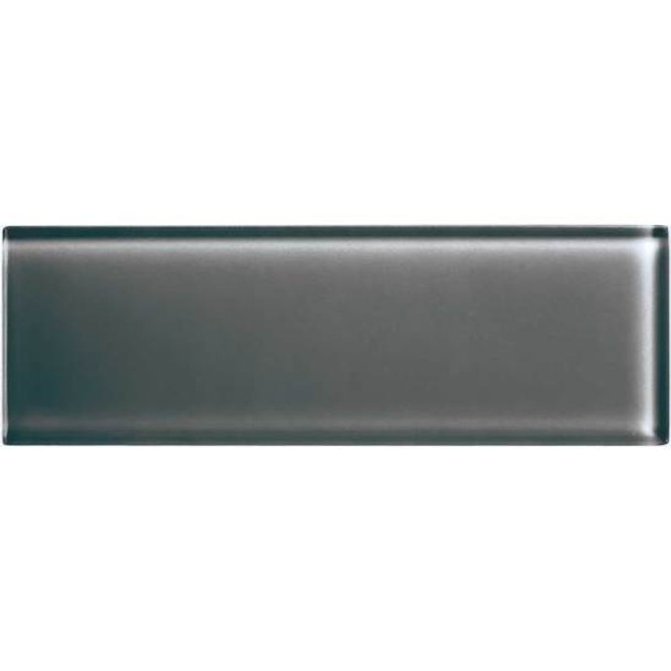Supplier: American Olean, Series: Color Appeal Glass, Name: C121 Charcoal Gray - Glossy, Type: Brick Subway Glass Tile, Size: 4X12