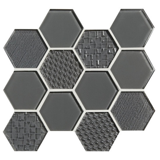 Supplier: American Olean, Series: Color Appeal Glass, Name: C121 Charcoal Gray - Glossy, Type: Glass Tile Mosaic, Size: 1X1
