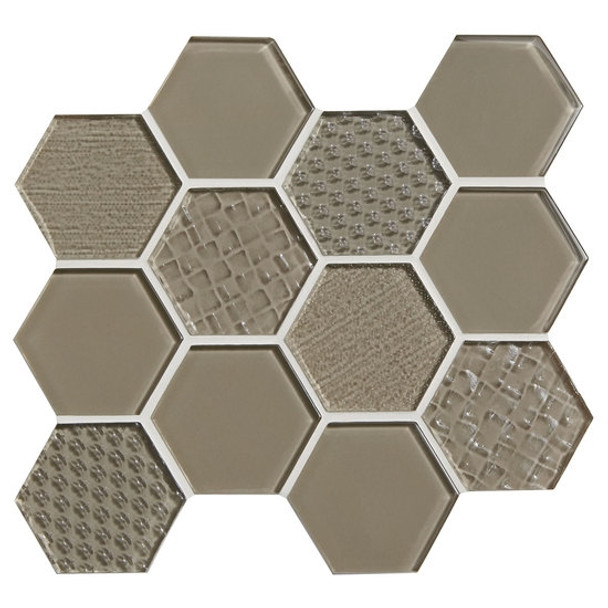 Supplier: American Olean, Series: Color Appeal Glass, Name: C105 Plaza Taupe - Glossy, Type: Glass Tile Mosaic, Size: 1X1