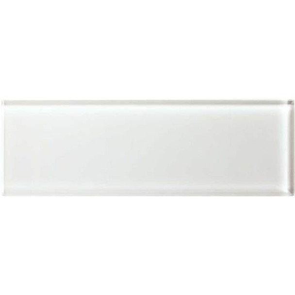Supplier: American Olean, Series: Color Appeal Glass, Name: C101 Pearl - Glossy, Type: Brick Subway Glass Tile, Size: 4X12