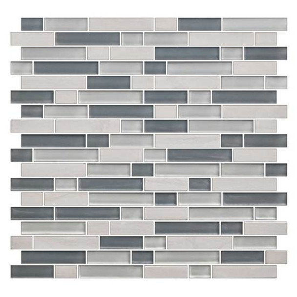 Supplier: American Olean, Series: Color Appeal Glass, Name: C141 Sea Cliff Blend - Glossy, Type: Glass Tile Mosaic, Size: 5/8 X Random