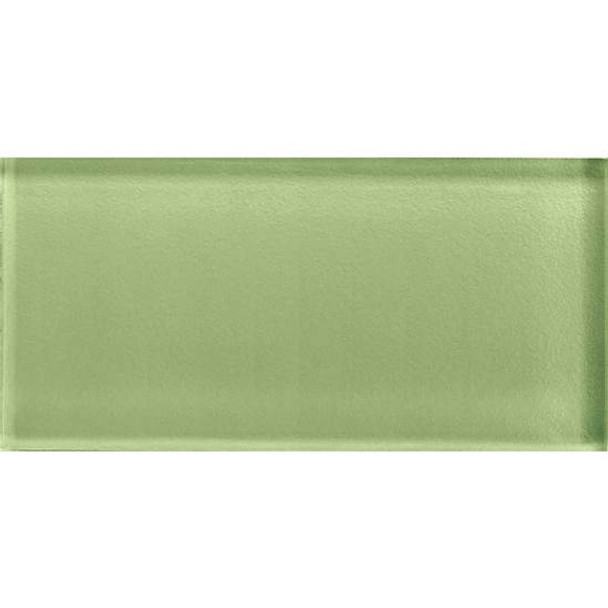 Supplier: American Olean, Series: Color Appeal Glass, Name: C111 Grasshopper - Glossy, Type: Brick Subway Glass Tile, Size: 3X6