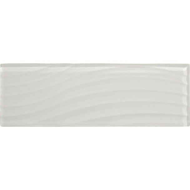 Supplier: American Olean, Series: Color Appeal Entourage Glass, Name: C101 Pearl - Glossy, Type: Brick Subway Glass Tile, Size: 4X12