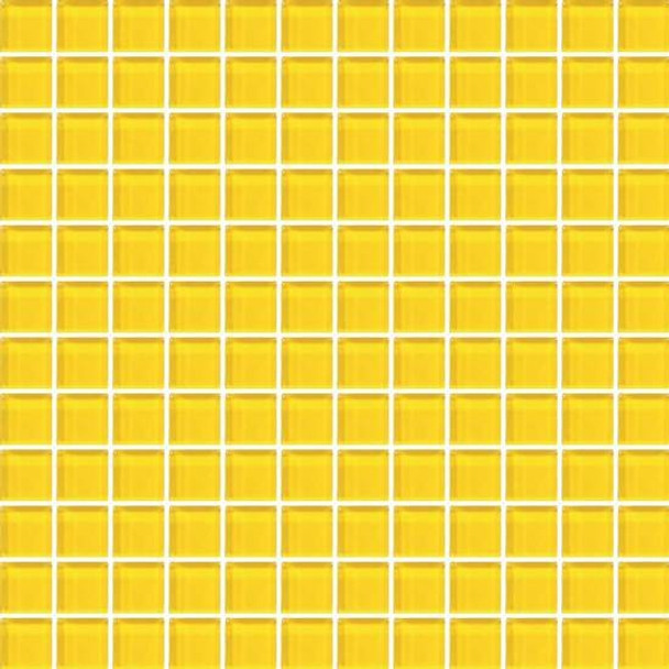 Supplier: American Olean, Series: Color Appeal Vibrant Glass, Name: C123 Vibrant Yellow - Glossy, Type: Glass Tile Mosaic, Size: 1X1