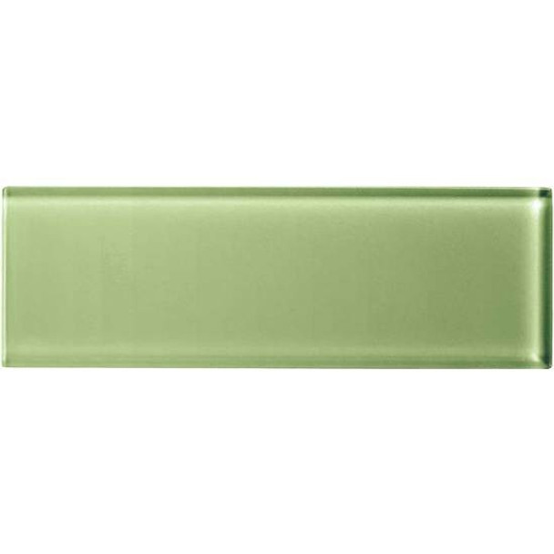 Supplier: American Olean, Series: Color Appeal Glass, Name: C111 Grasshopper - Glossy, Type: Brick Subway Glass Tile, Size: 4X12