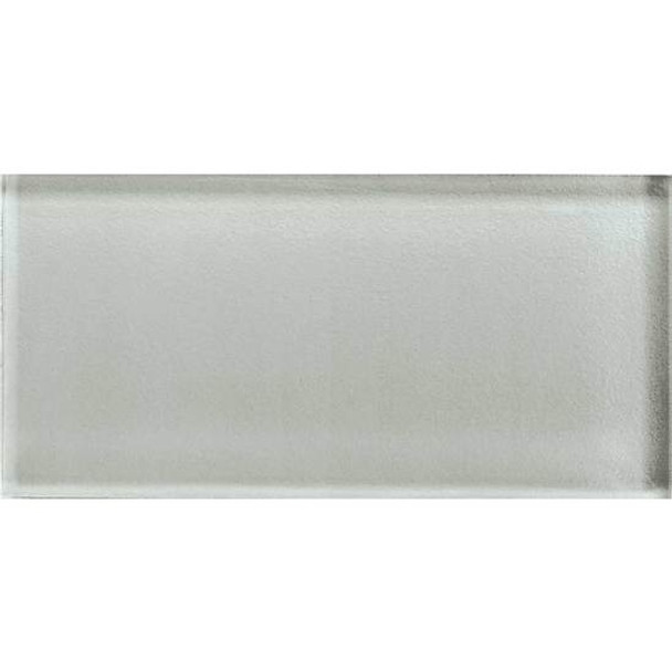 Supplier: American Olean, Series: Color Appeal Glass, Name: C102 Silver Cloud - Glossy, Type: Brick Subway Glass Tile, Size: 3X6