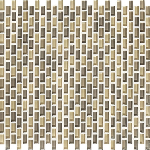 Supplier: American Olean, Series: Color Appeal Renewal Chain Link Glass Tile Mosaic, Name: C133 Sand Storm Blend, Size: Micro Brick