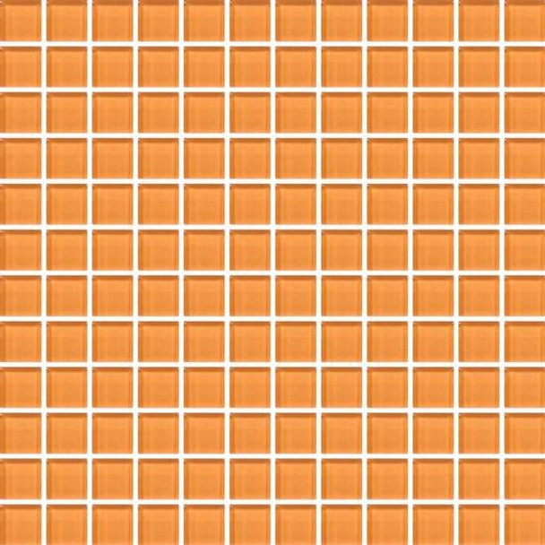 Supplier: American Olean, Series: Color Appeal Vibrant Glass, Name: C126 Orange Peel - Glossy, Type: Glass Tile Mosaic, Size: 1X1