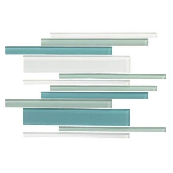 Supplier: American Olean, Series: Color Appeal Glass, Name: C128 Sea Pearl Blend - Glossy, Type: Glass Tile Mosaic, Size: Random Interlock