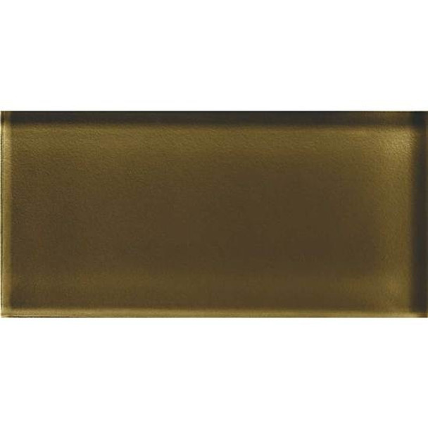 Supplier: American Olean, Series: Color Appeal Glass, Name: C113 Sable - Glossy, Type: Brick Subway Glass Tile, Size: 3X6