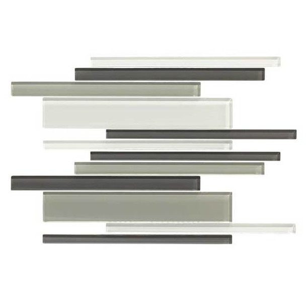 Supplier: American Olean, Series: Color Appeal Glass, Name: C134 Silver Spring Blend - Glossy, Type: Glass Tile Mosaic, Size: Random Interlock