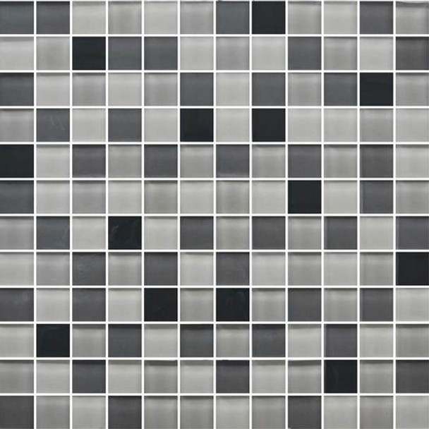 Supplier: American Olean, Series: Color Appeal Glass, Name: C135 Midnight Sky Blend - Glossy, Type: Glass Tile Mosaic, Size: 1X1