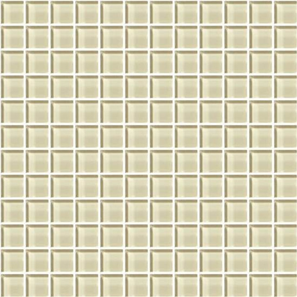 Supplier: American Olean, Series: Color Appeal Glass, Name: C104 Cloud Cream - Glossy, Type: Glass Tile Mosaic, Size: 1X1