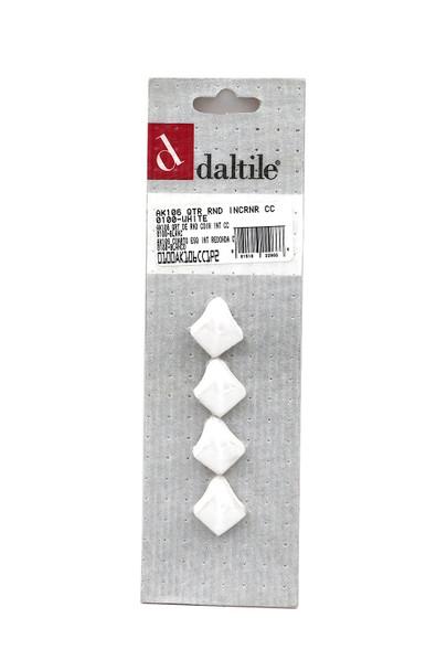 Daltile - AK106 Quarter Round IN Corner - 0100 White - Dal Tile Ceramic Finish Trim - 4 PACK