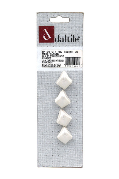 Daltile - AK106 Quarter Round IN Corner - 0135 Almond - Dal Tile Ceramic Finish Trim - 4 PACK