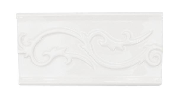 Daltile - Fashion Accents - Polaris Astrid Blanco Listello -  0100 White - 4 X 8 Ceramic Decorative Border Liner Tile
