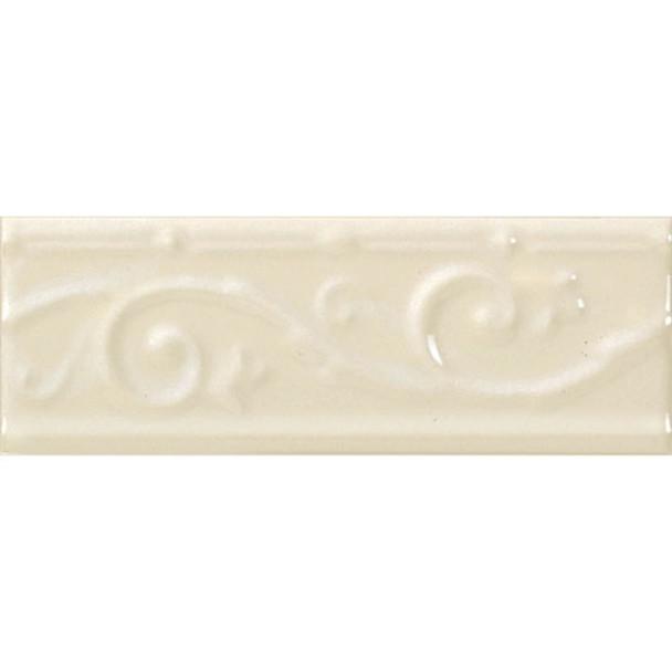 Daltile - Fashion Accents FA152- Ivy Listello - 0135 Almond - 3 X 8 Ceramic Decorative Border Liner Tile