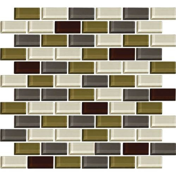 Supplier: Daltile, Series: Color Wave, Name: CW26 Autumn Trail - Glossy, Category: Glass Tile, Size: 1 X 2