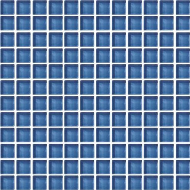 Supplier: Daltile, Series: Color Wave, Name: CW14 Twilight Blue - Glossy, Category: Glass Tile, Size: 1 X 1
