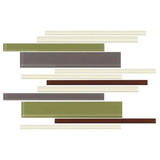Supplier: Daltile, Series: Color Wave, Name: CW26 Autumn Trail - Glossy, Category: Glass Tile, Size: Random