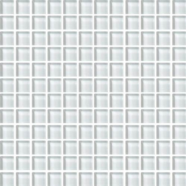 Supplier: Daltile, Series: Color Wave, Name: CW02 Feather White - Glossy, Color: White, Category: Glass Tile, Size: 1 X 1