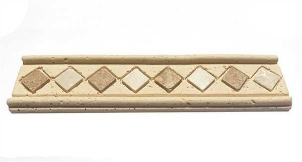 Resin Stone - 2 X 8 Marble Listello Liner Border - Limestone Color - $3.99